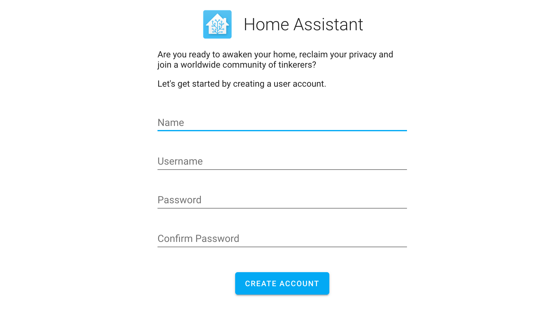 Create Home Assistant User